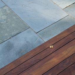 wood and bluestone: Ideas Walls, Wood Decks, Bluestone Patio, Landscape Ideas