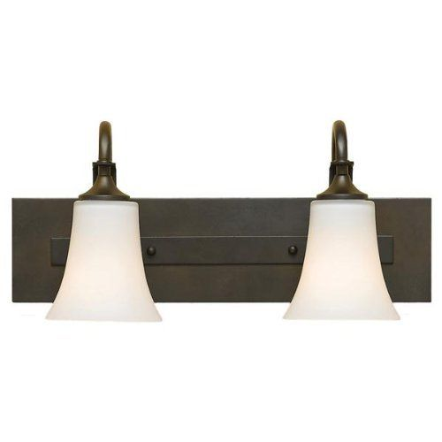 Barrington two light bath vanity finish oil rubbed bronze by feiss 112 00 vs12702 · bathroom vanity lightingbath