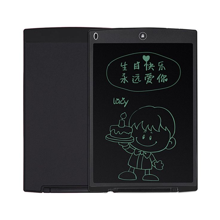 "12"" Digital LCD Writing Pad Tablet eWriter Electronic Drawing Graphics Board Notepad with Stylus Memo Board"