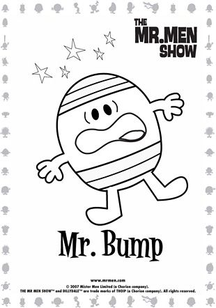 Some black and white Mr Men and little miss would be cool