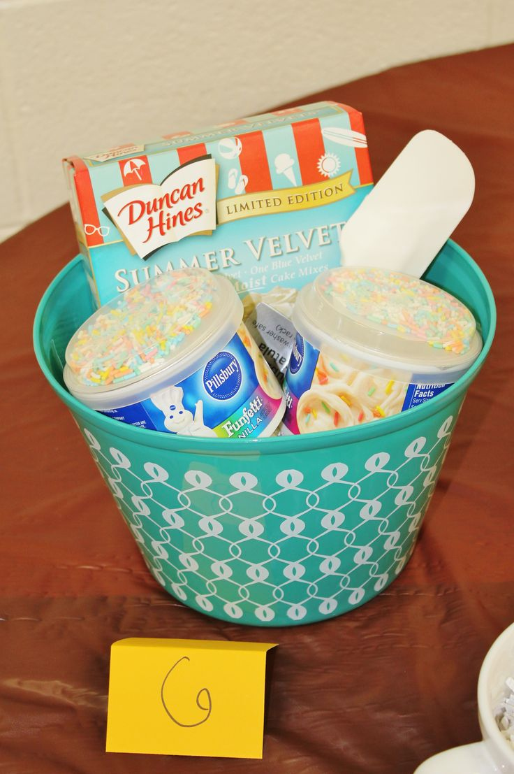 Cake Cooking Kit prize for a Bridal Shower or any party game. Prizes for under $5!