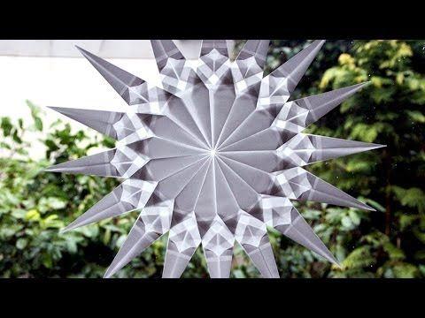Weihnachtssterne basteln - Fenster-Sterne - Bastelideen Weihnachten - YouTube