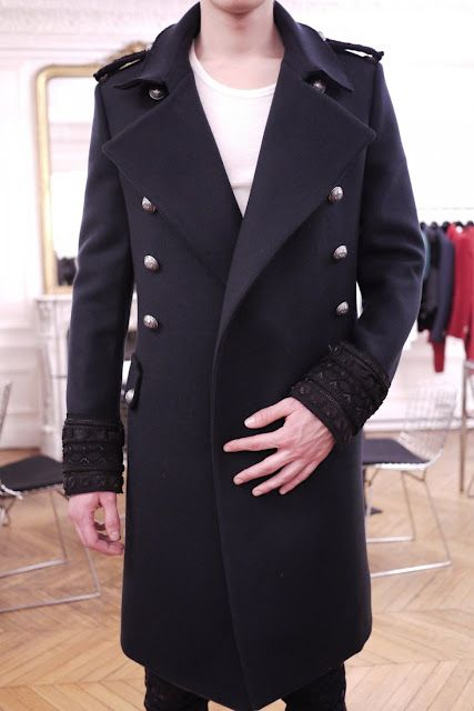 Balmain Homme Fall Winter 2012-2013 Embroidered Coat
