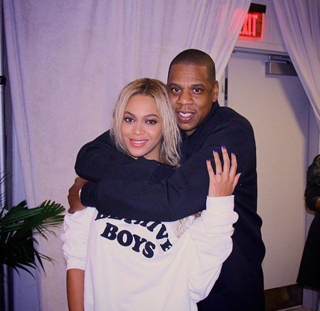 Beyoncé & Jay Backstage At The End Of The Formation World Tour MetLife Stadium East Rutherford New Jersey 7th October 2016
