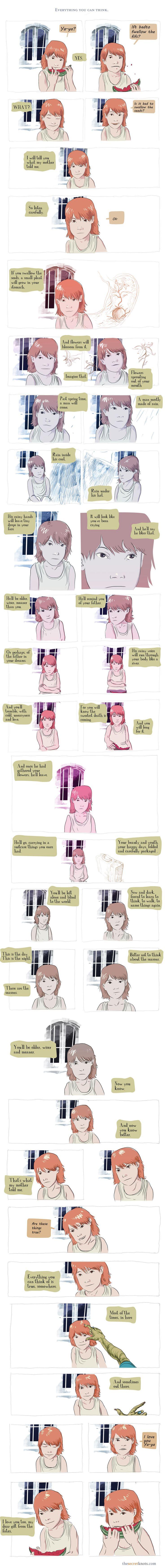 Secret Knots - #webcomic by Juan Santpau - Everything you can think - possibly my favorite secret knot so far.