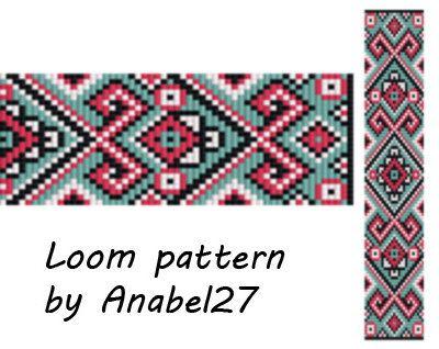 Loom pattern, beading pattern #18, bead loom pattern, square stitch pattern…