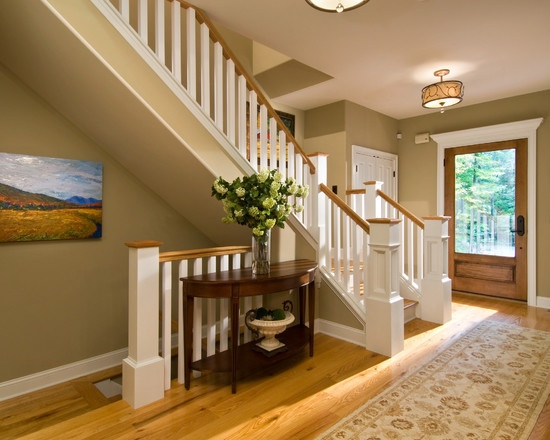 Combining white and stained interior trim design pictures for Combining stained and painted trim