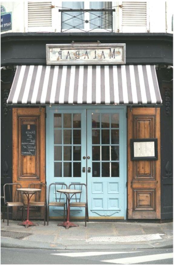 Paris Cafe Photograph Malabar Cafe Large Wall Art French Kitchen Decor Striped Awning Blue Door Travel Ph French Kitchen Decor Paris Cafe Restaurant Door