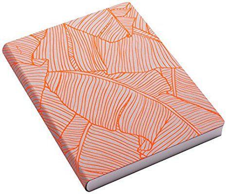nuuna Graphic L Banana Leaves Design Jeans Label Material Notebook - Neon Orange