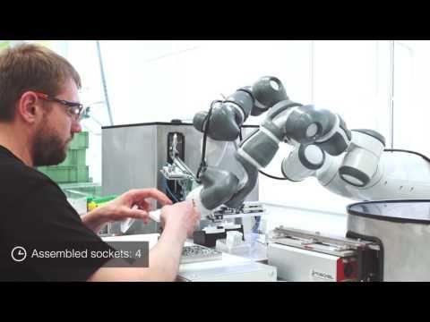 (46) ABB Robotics - YuMi at ABB Elektro-Praga - YouTube