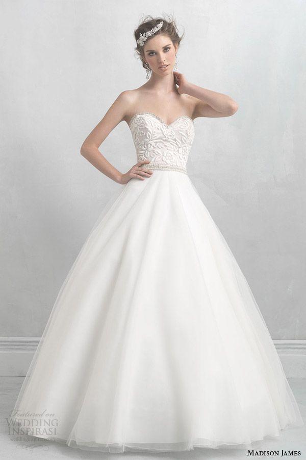 madison james 2014 strapless ball gown wedding dress style mj13