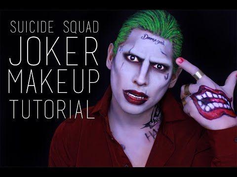 Suicide Squad Joker Makeup Tutorial - YouTube