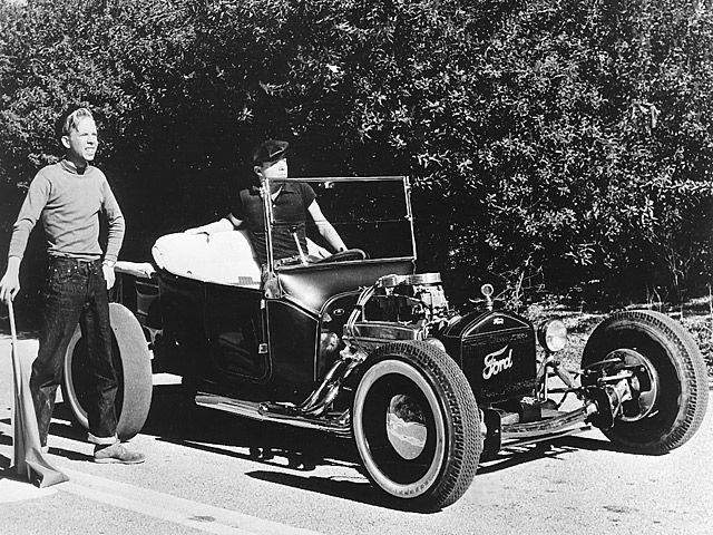 """Tommy Ivo and his T-Bucket were featured in the Hollywood production """"Dragstrip Girl"""". Ironically, Ivo played the heavy in the movie, and the script called for him to steal his own car."""