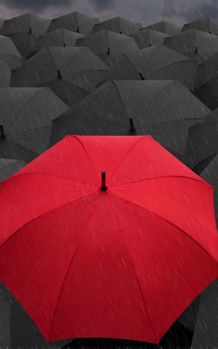 pluie, parapluies, rouge, gris iPhone 6 fond d'écran 750x1334 Fonds d'écran gratuits, image, photo, fond, matériel