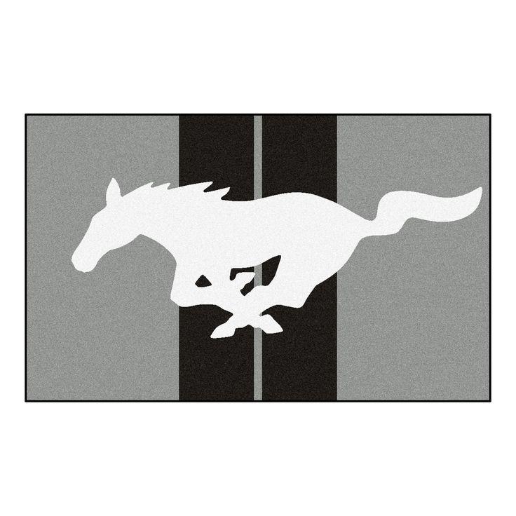 Mustang Horse Rug 4x6 - Gray