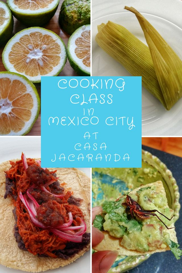Cooking Class in Mexico City: Casa Jacaranda Review - Tales of a Backpacker.  A cooking class is the best way to learn more about a culture through their food.  Mexican food is world renowned & UNESCO Certified so when I had the chance to try a cooking class in Mexico City with Casa Jacaranda I couldn't wait!