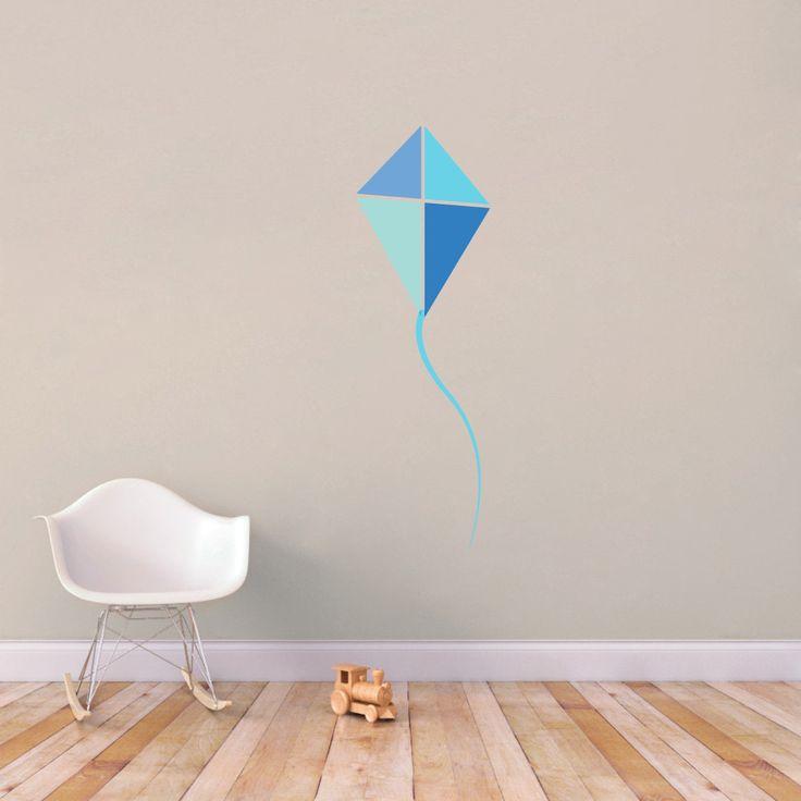 Blue Kite Printed Wall Decals |Wall Art | Wall Murals