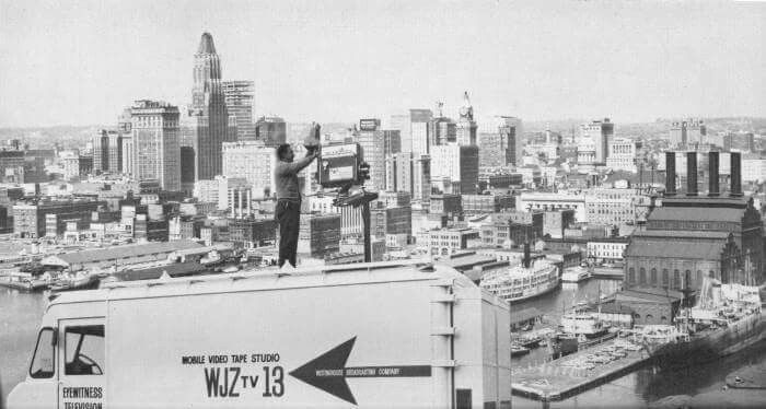 WJZ TV 13 on Federal Hill - Baltimore,Md. circa 1963