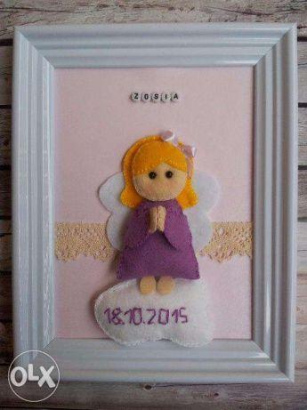 Ramka 3D, chrzest, roczek,prezent, aniołek Czechowice-Dziedzice - image 1