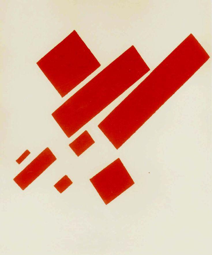 Malevitch. Sérigraphie 346/420 sur vélin de rives, tirée en 1971,collection Correspondances n° 15