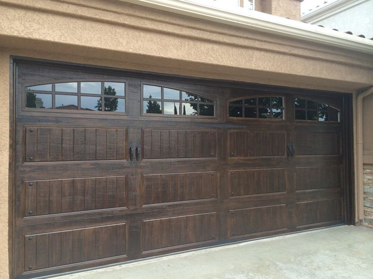 Metal Garage Painted To Look Like Wood | Love This Without The Windows.