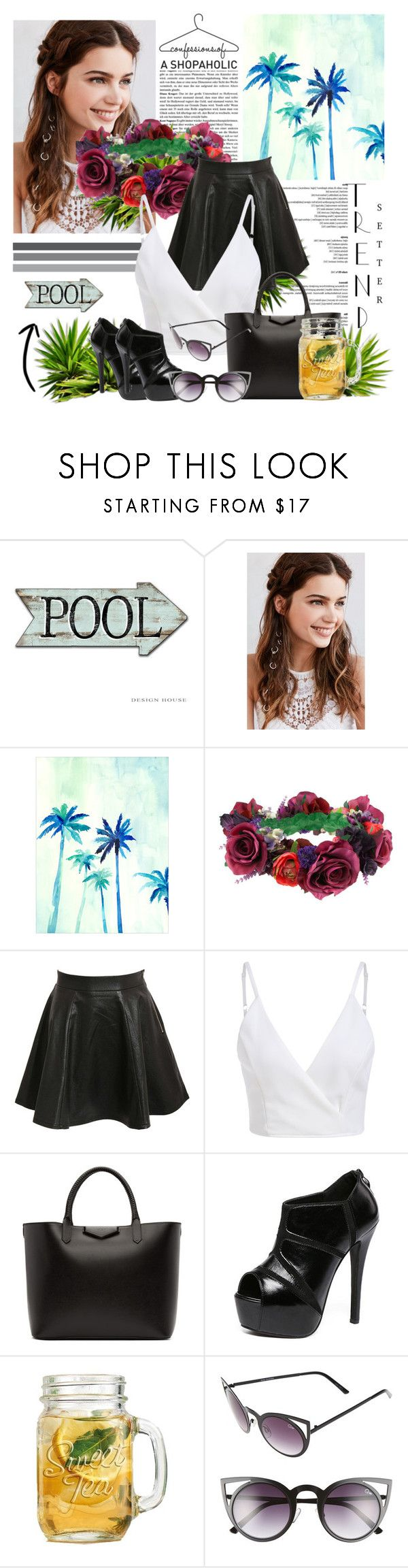 """#summer"" by blogforeverything ❤ liked on Polyvore featuring REGALROSE, Rock 'N Rose, Pilot, Givenchy, WithChic and Quay"