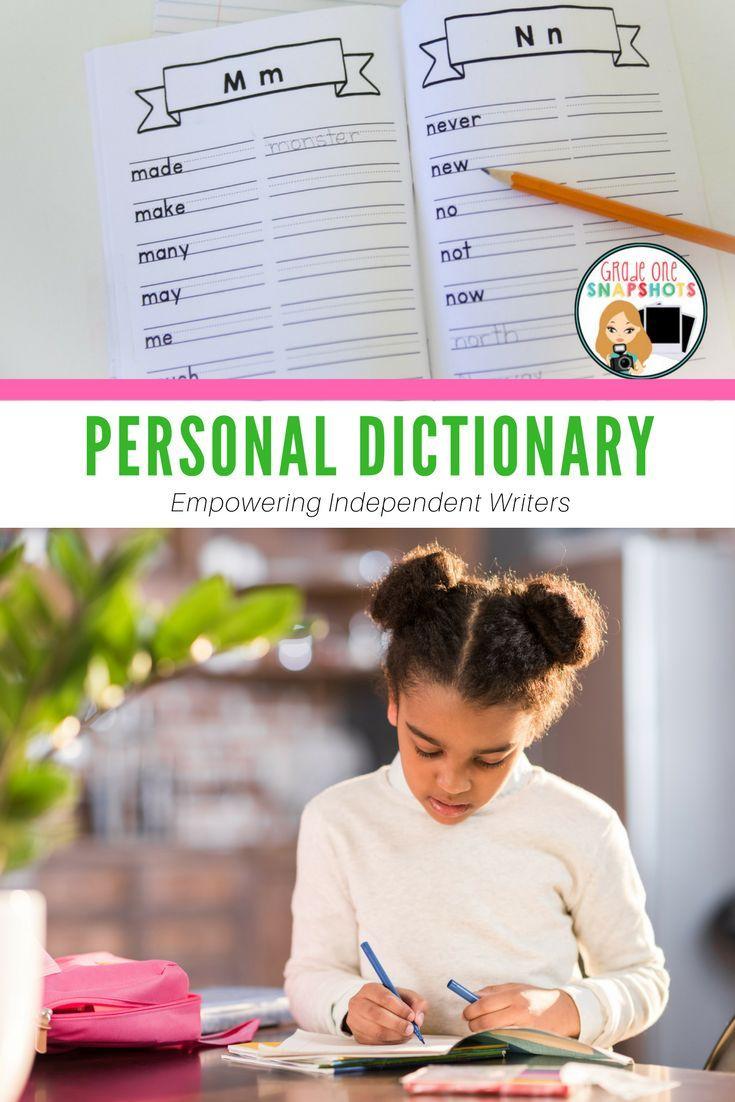 grade one personal dictionary pdf