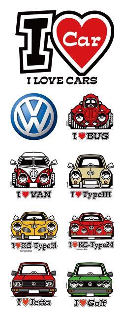 I LOVE CARS Illustrations were respect of Dave Deal's by mashimarokun