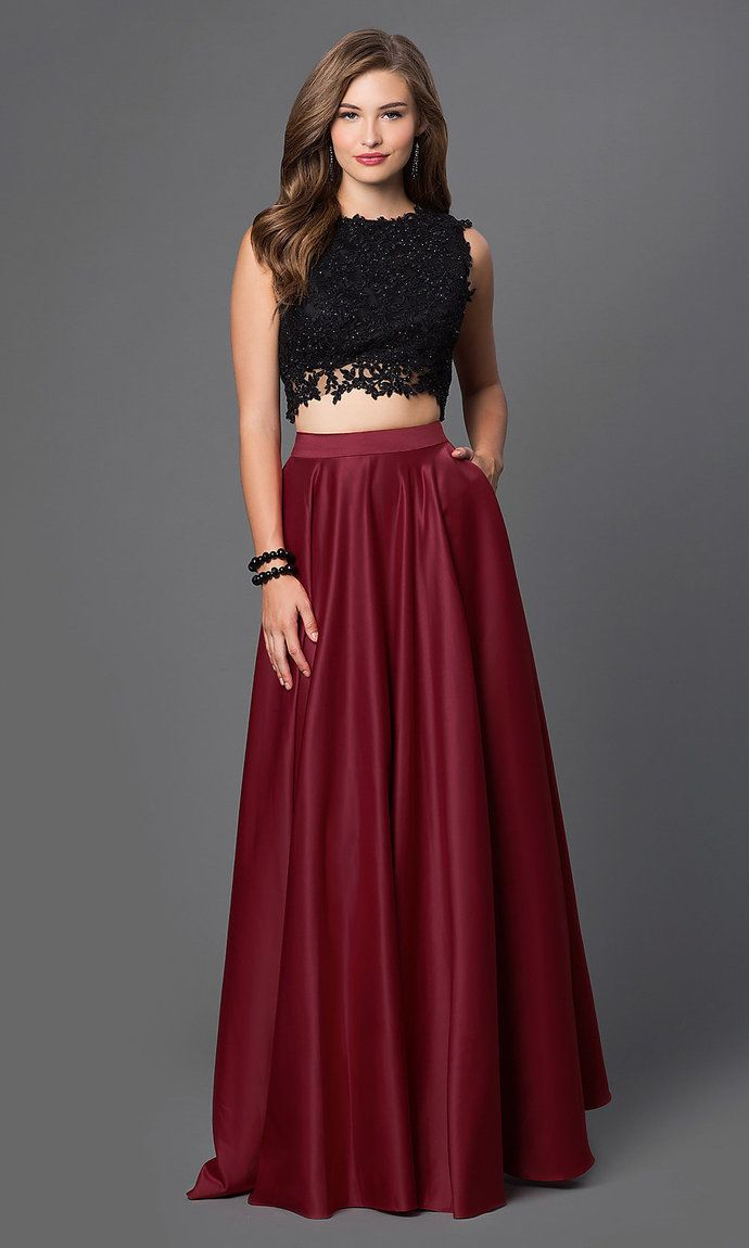 Embroidered twopiece prom dress in prom dresses pinterest