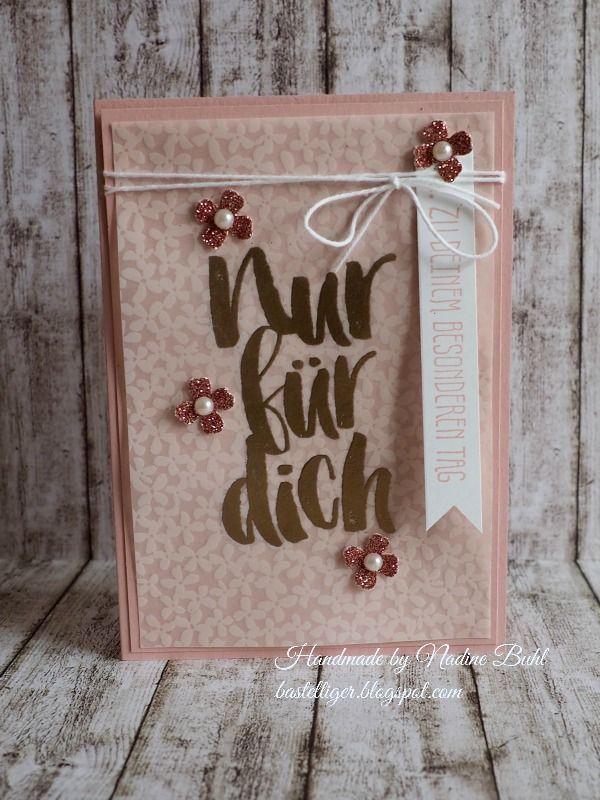 Basteltigers Welt, Stampin Up Demo Düsseldorf, Blumen für dich, SAB, Wunderville Kartenform, Itty Bitty Stanze