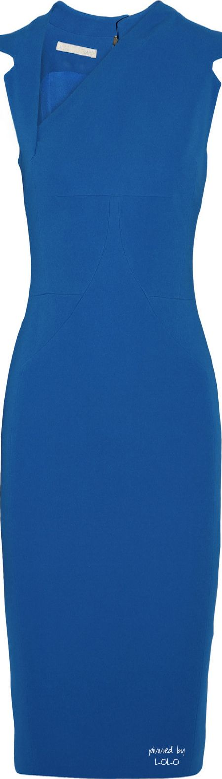 Antonio Berardi Blue Asymmetric Stretchcrepe Dress
