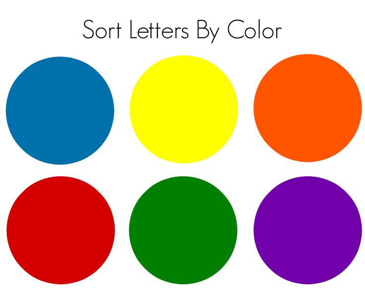 magnetic letters color sorting