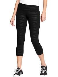 {got me some on sale today} Old Navy Active Printed-Compression Capris