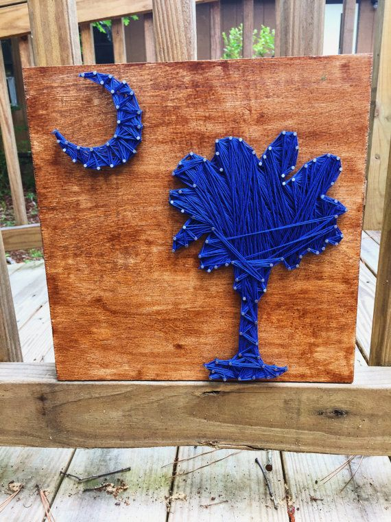 South Carolina Palmetto Moon String art  by PalmettoCrafted