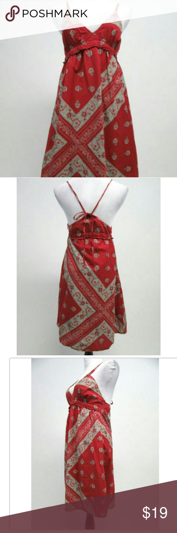 Converse One Star Red Beige Dress Converse One Star Womens Sundress Size Large Red Beige Dress. Made with cotton. Casual. Dress length above knee, mini, spaghetti straps. Converse One Star Dresses