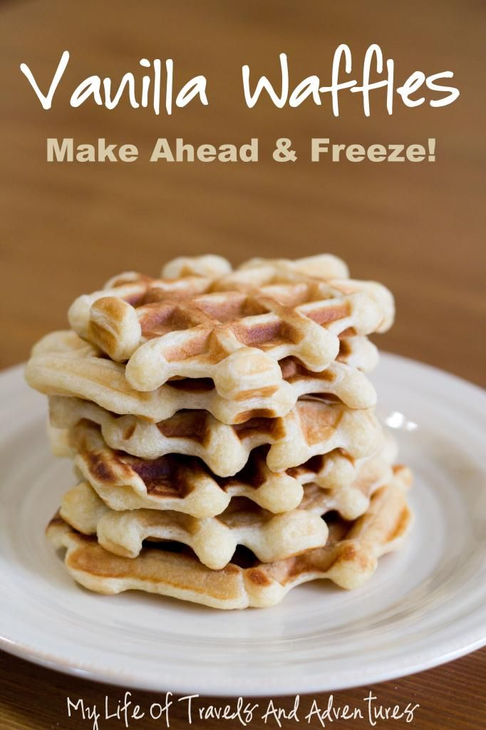 Make Ahead Vanilla Waffles - all I need know is a waffle maker!