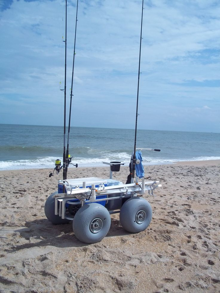 25 best ideas about fishing cart on pinterest beach for Beach fishing rigs
