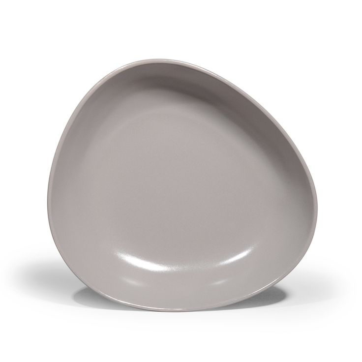 Assiette creuse en faïence grise D 22 cm GALET   - Vendu par 6