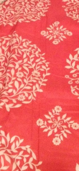 Have this coral bedspread- Michelle