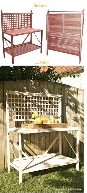 All Sizes Before And After My Version Of The Martha Stewart Grill Station Potting Bench Via