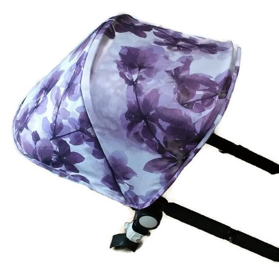 Hood\canopy and wetbag (bag for diapers and napkins) for Bugaboo Cameleon stroller. The fabric is hydrofobic polyester, Ready to ship