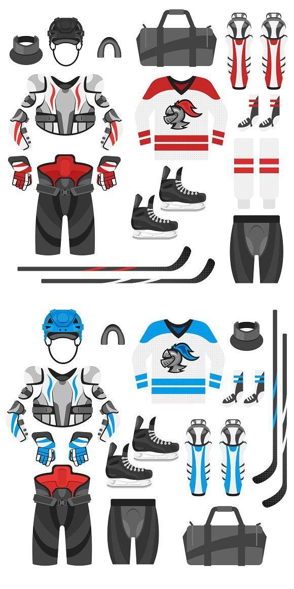 Hockey Equipment Two Colors Hockey Equipment Hockey Hockey Players