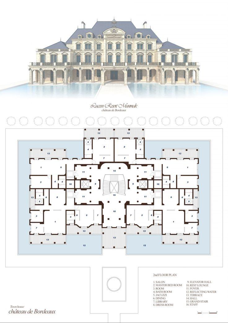 Resort Elevation Plan : Village type baroque style quot daemyung luceen resort