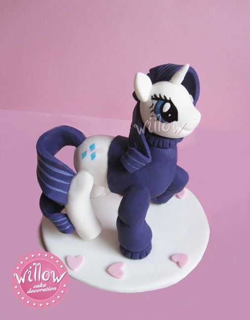 Pony Rarity,fondant cake decoration