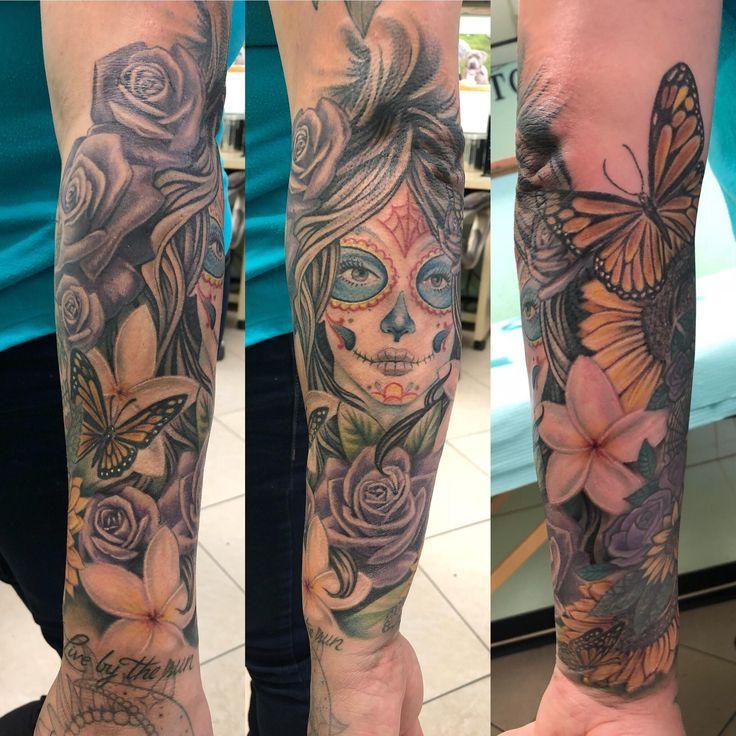 Day of the dead inkbyflip tattoo artist flip valdez art