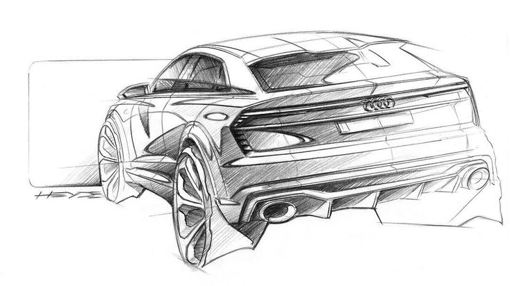 "834 Likes, 3 Comments - Cardesign World (@cardesignworld) on Instagram: ""Audi Q8 Sport Concept official sketch #cardesign #car #design #carsketch #sketch #drawing…"""