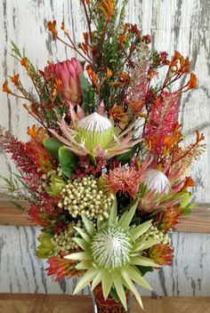 spiky protea arrangement tall loose - Google Search
