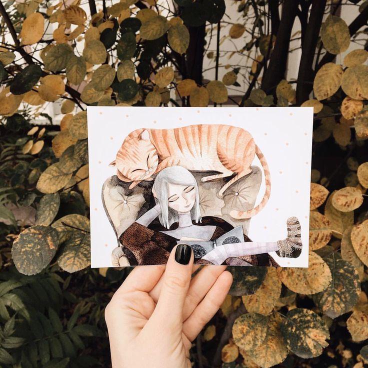 4,493 отметок «Нравится», 36 комментариев — Viktoria  Artist (@vicky_od) в Instagram: «А открыточки новые наконец то появились. Сейчас есть на привычной гладкой бумаге и немного на…»