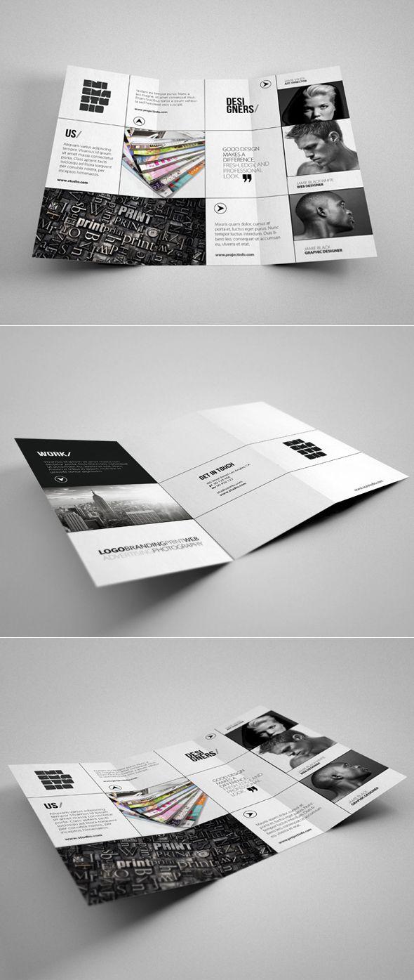 Professional Tri-Fold Brochure perfect for design studio or agency.