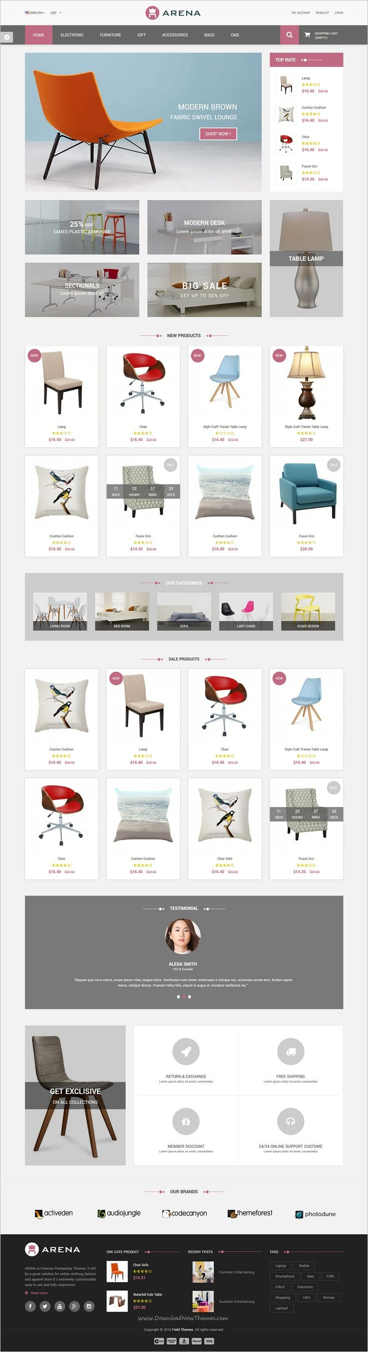 Arena is a wonderful responsive 4in1 #Prestashop theme for stunning #furniture #shop eCommerce website download now➩ https://themeforest.net/item/arena-responsive-prestashop-theme/19000125?ref=Datasata